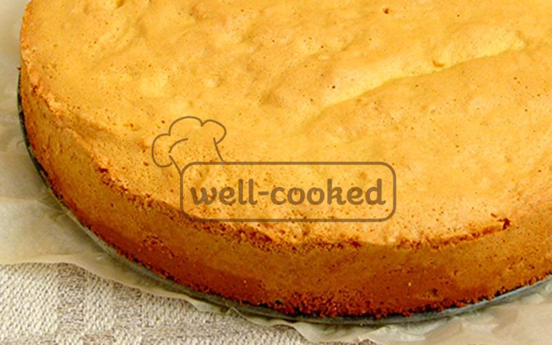 Высокий бисквит рецепт пошагово 7