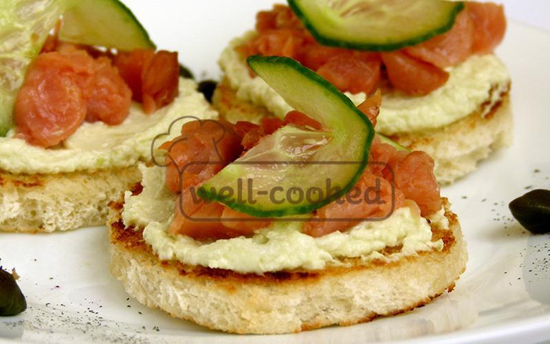 Бутерброды с рыбой пошагово