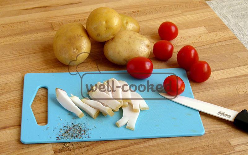 картошка, сало