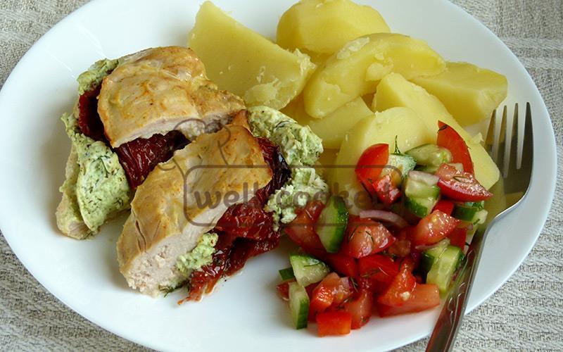 готовое запеченное куриное филе