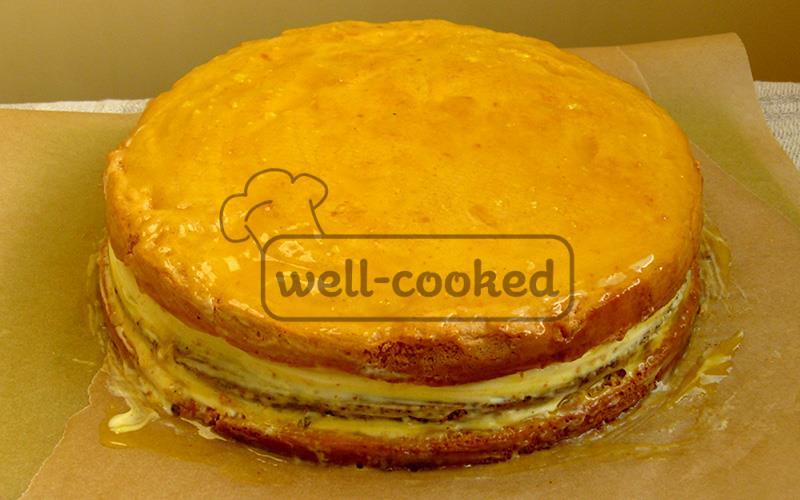 Лимонно маковый торт