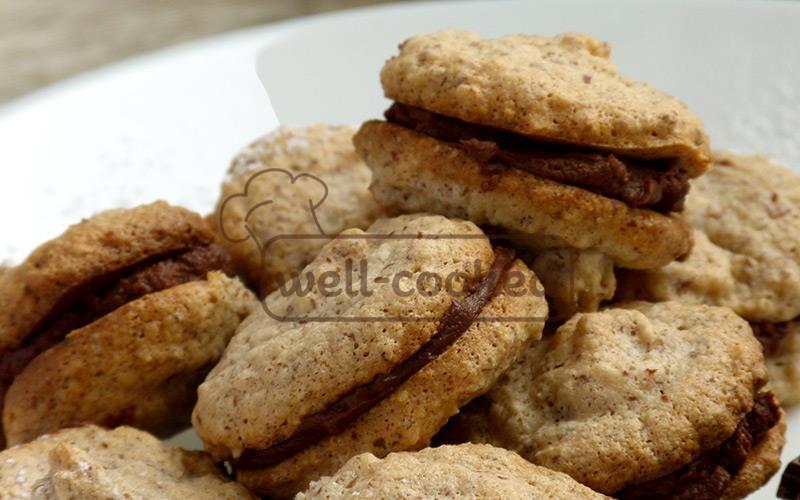 миндальное печенье рецепт с шоколадным кремом