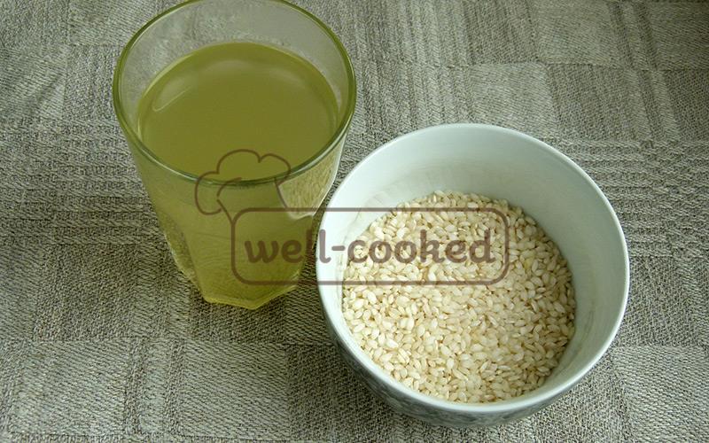 овощной бульон и рис