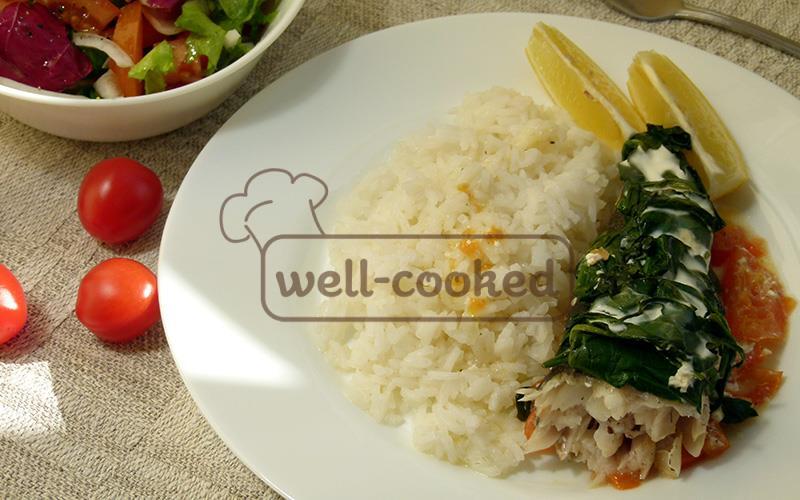 Рыба запеченная со шпинатом в духовке