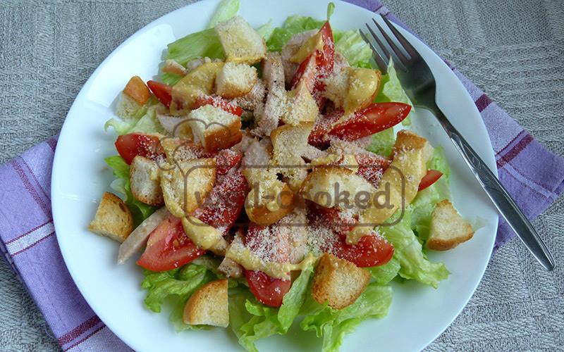 цезарь со свининой рецепт с фото