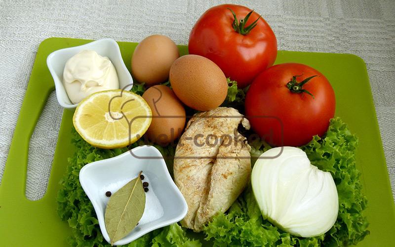 ингредиенты для салата маринара