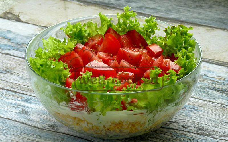 салат маринара можно украсить зеленью