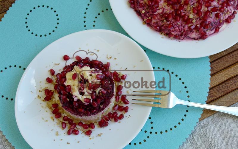 Салат с гранатом и курицей рецепт