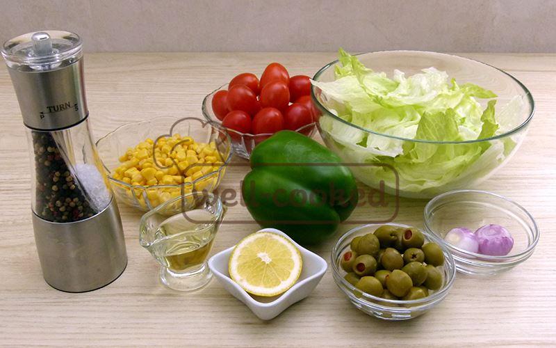 Необходимые продуты для салата