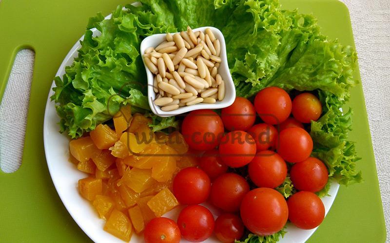 основные ингредиенты салата