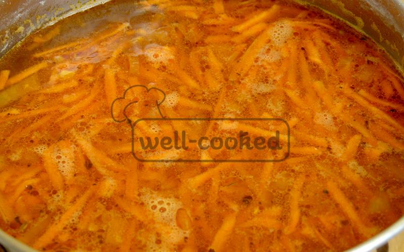 Варим чечевичный суп