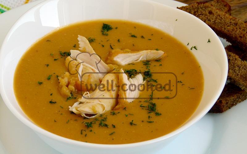 Суп пюре из чечевицы фото
