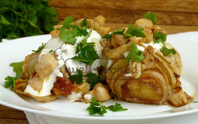 вкусная запеченная картошка готова