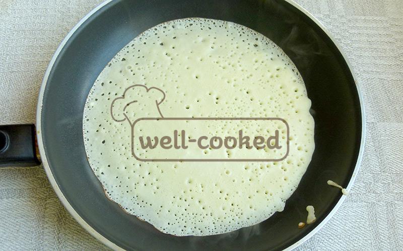 жарим блины на сковороде