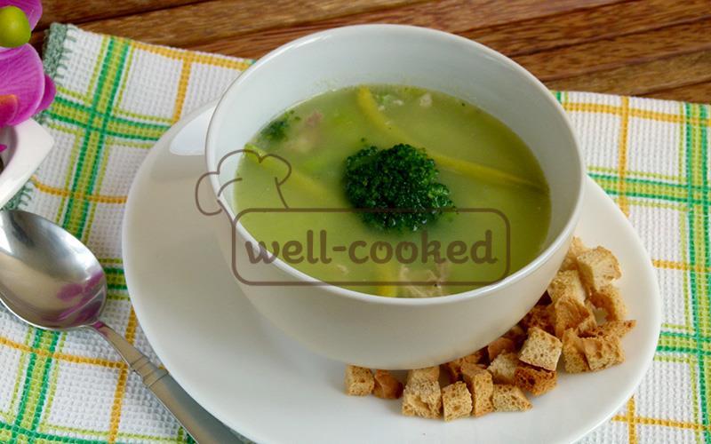 Легкий зеленый суп